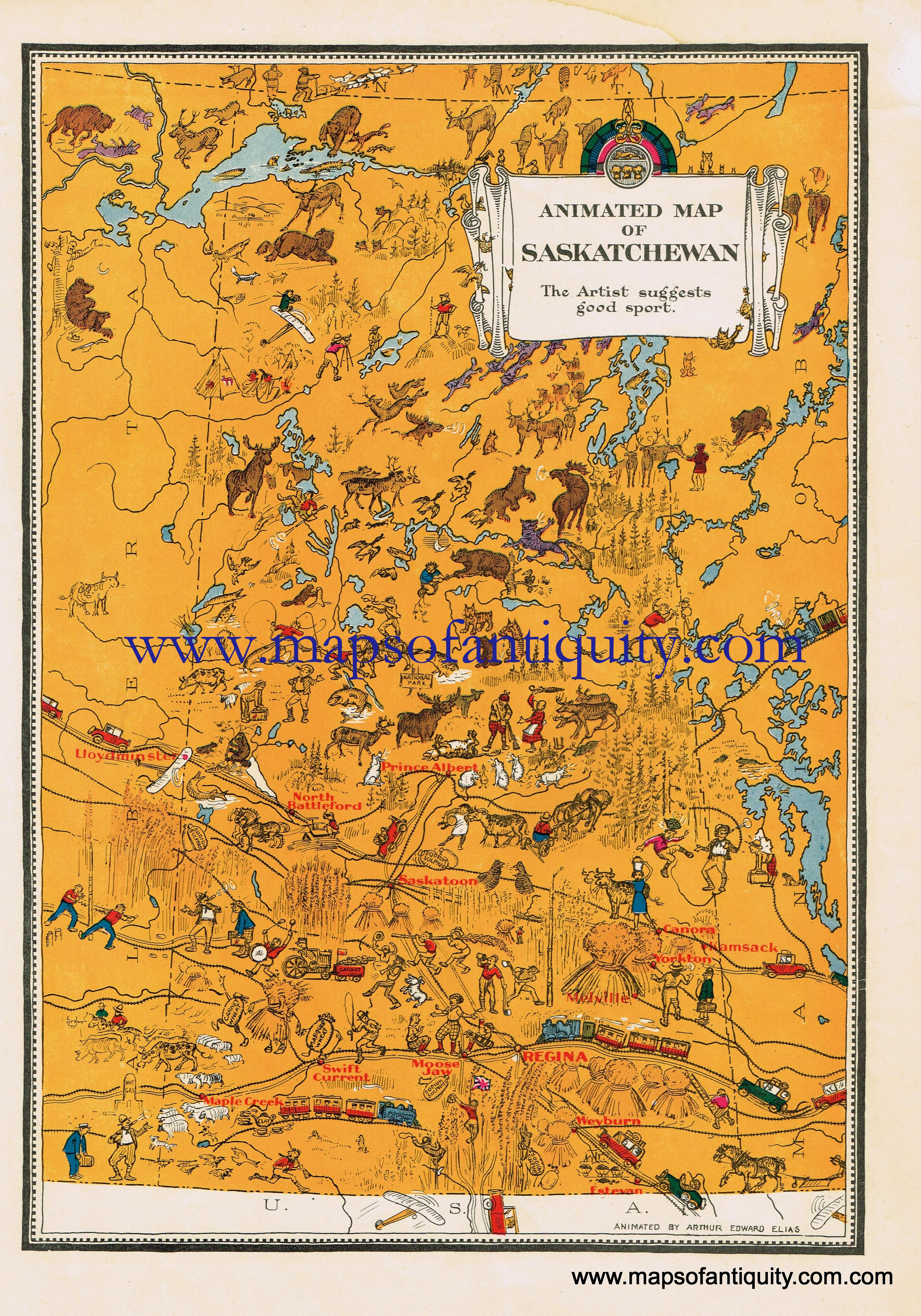 animated map of saskatchewan canada antique maps and charts