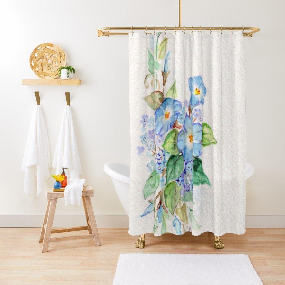Heavenly Blues Shower Curtain Blue Shower Curtains Curtains