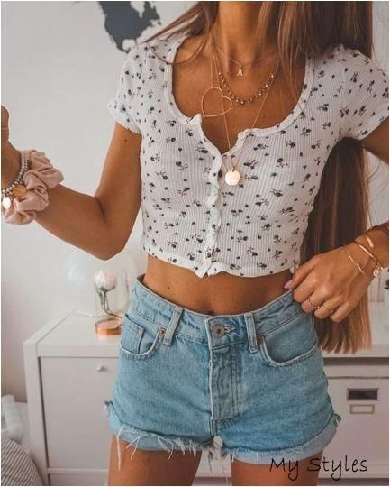 The Best Places To Shop For Jean Shorts This Summer - Society19 #cute #outfits
