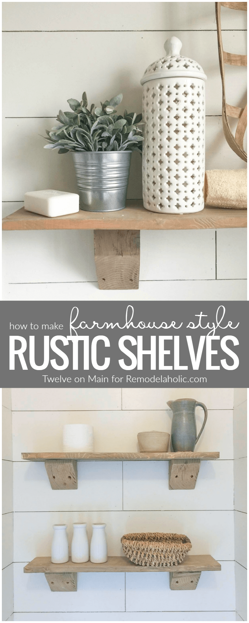 Rustic Driftwood Free Hanging Shelves | Bathroom remodeling small ...