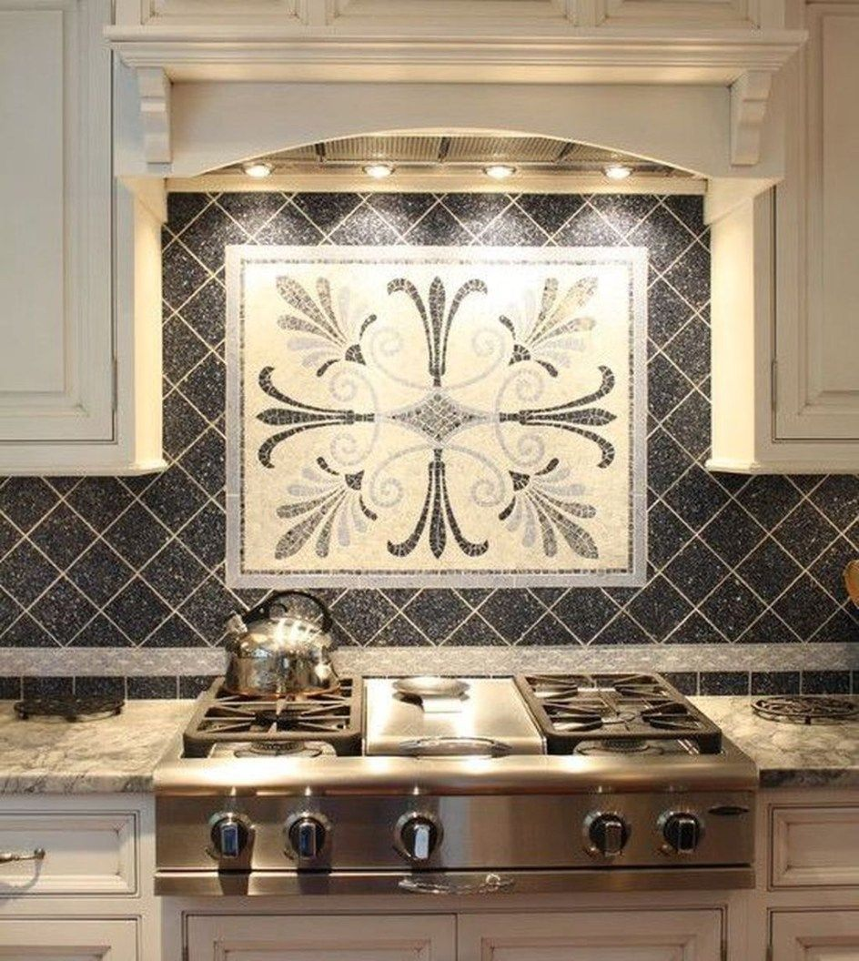 Decorative Backsplash Behind Stove With Images Kitchen