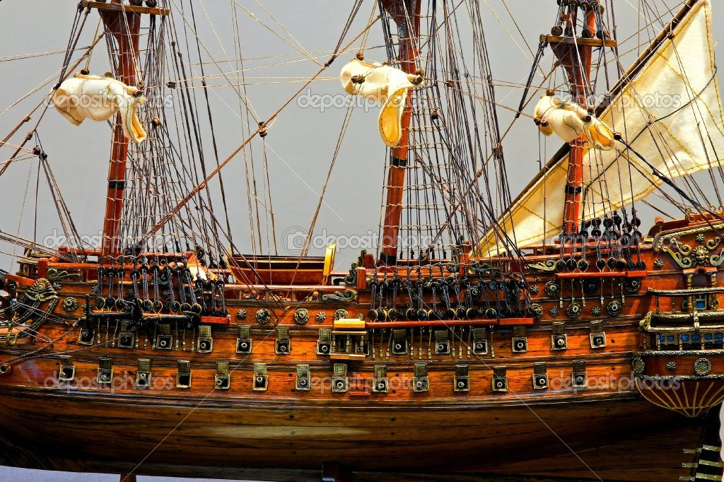 Tall-ship-model. A very good one and so many hours went into making it wow