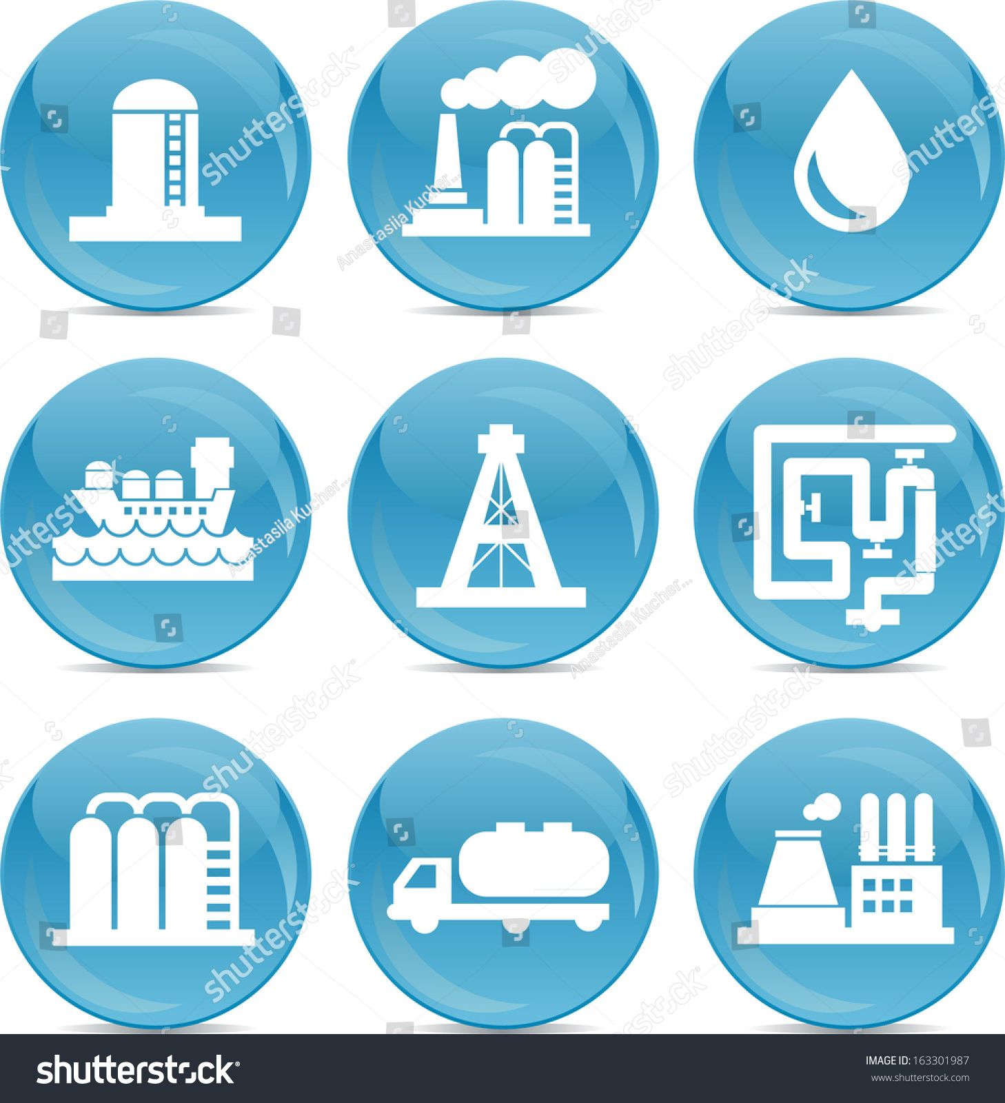 oil and gas transport and store related icons white on blue shiny balls #Ad , #AFFILIATE, #store#related#transport#oil
