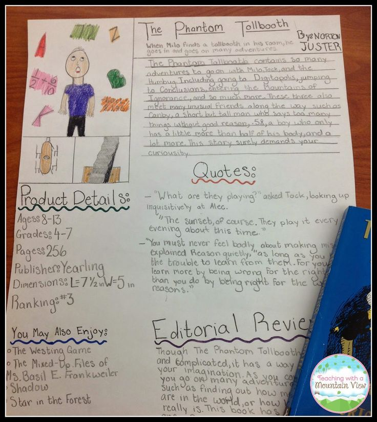 An Amazon Listing Cumulative Novel Project! Assignment sheet - cereal box book report sample