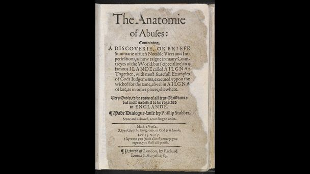 The Anatomy of Abuses by Philip Stubbes, 1583 | biblioteca ...