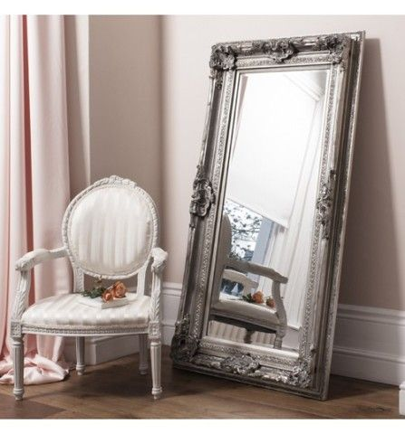 Valois Mirror Silver Leaf | Tall Leaner Mirror | French Style Valois ...