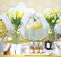 Throw a bumblebee-themed baby shower.