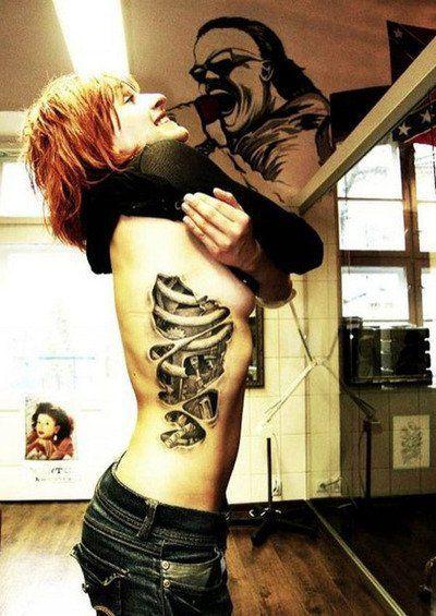 Tattoo rib cage