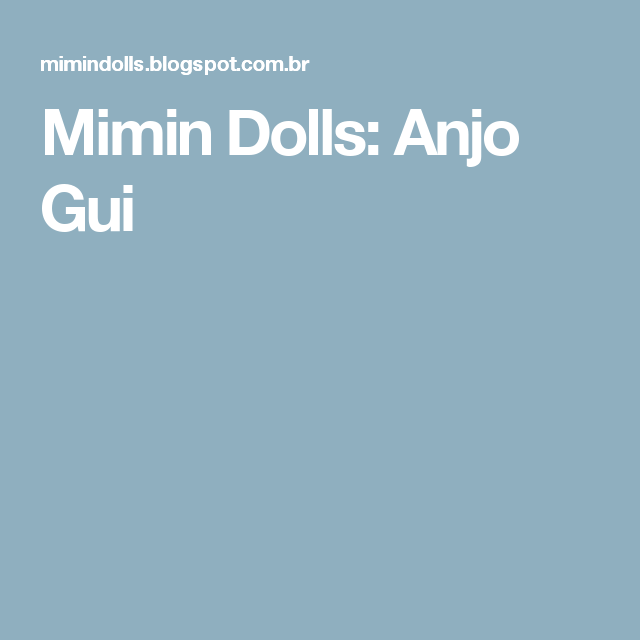 Mimin Dolls: Anjo Gui