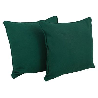 Andover Mills Weymouth Indoor/Outdoor Solid Throw Pillow Color: Forest Green