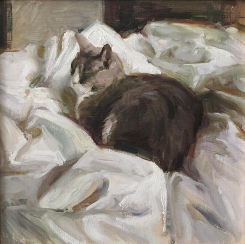 """Karen Offutt, """"Lulu"""", oil on canvas, circa 2012"""
