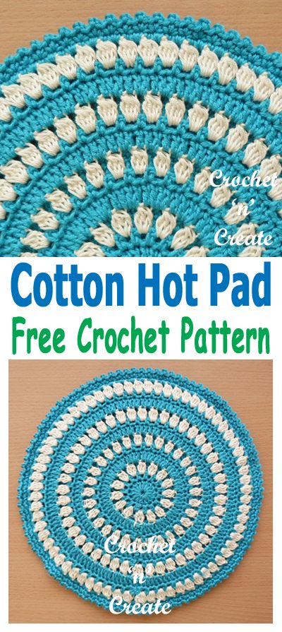 Crochet Hot Pad UK | Yarn Crafting | Pinterest | Cobija, Apoyar y Tejido