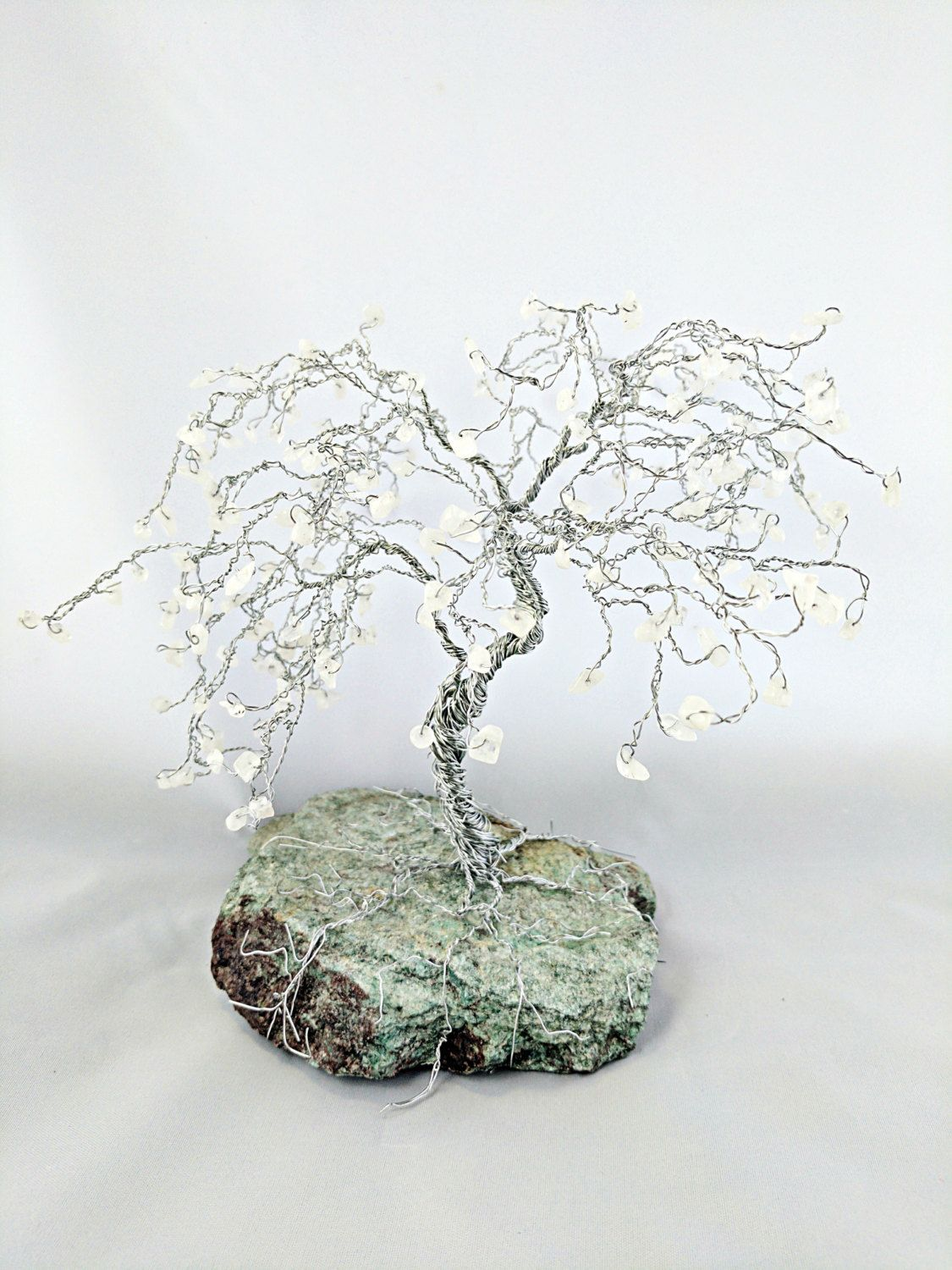 Moonstone Bonsai Gem Tree, Wire Tree Sculpture of Life, Unique Gifts ...