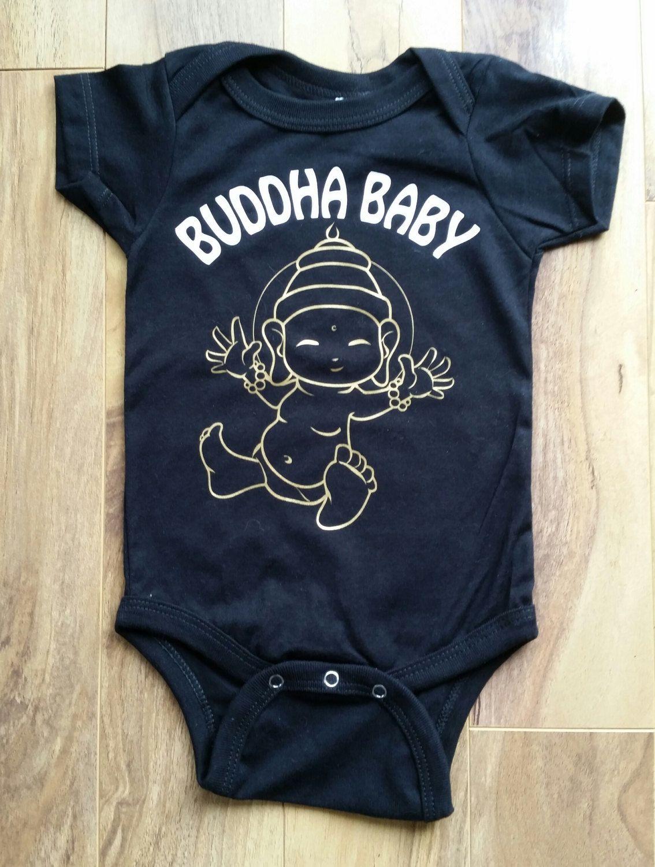 efe8fbe3bcd98 Buddha Baby - Namaste - Baby boy Baby girl Unisex Onesie - Baby Shower -  Spiritual Gift by OneKinkClothing on Etsy