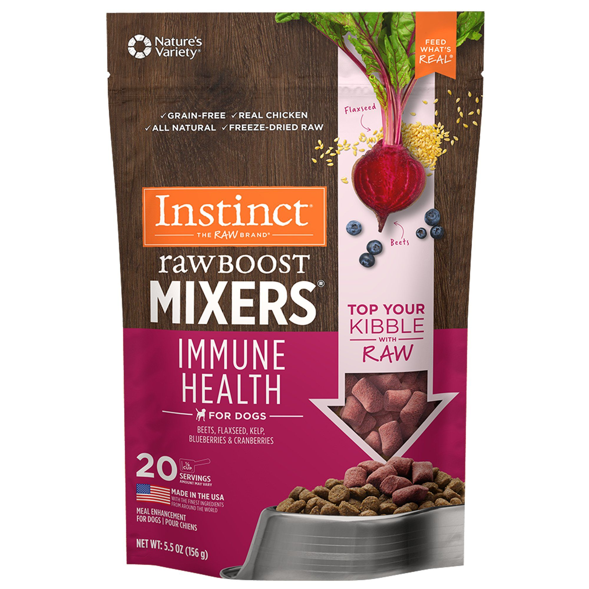 Instinct Freeze Dried Raw Boost Mixers Immune Health Grain
