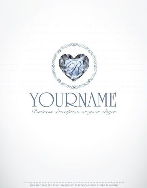 Exclusive design diamond heart initials logo compatible free exclusive design diamond heart initials logo compatible free business card pinterest beauty logo online logo and free business cards reheart Choice Image