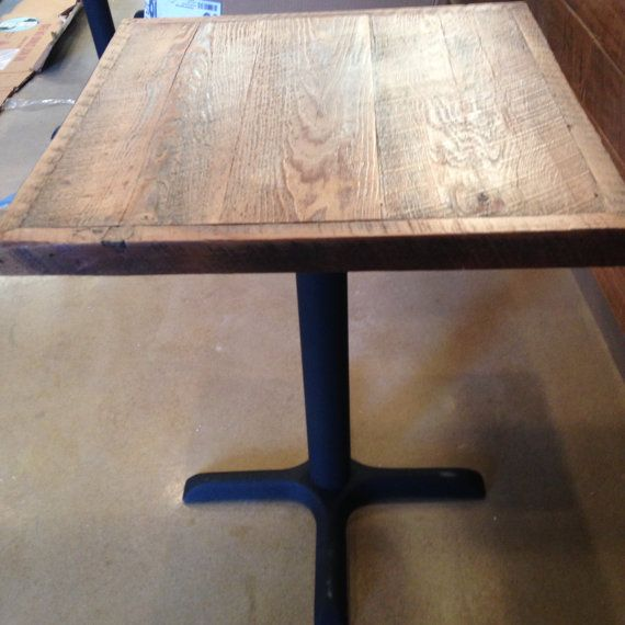 Reclaimed Wood White Weathered Table Top Bar Table Top Pub