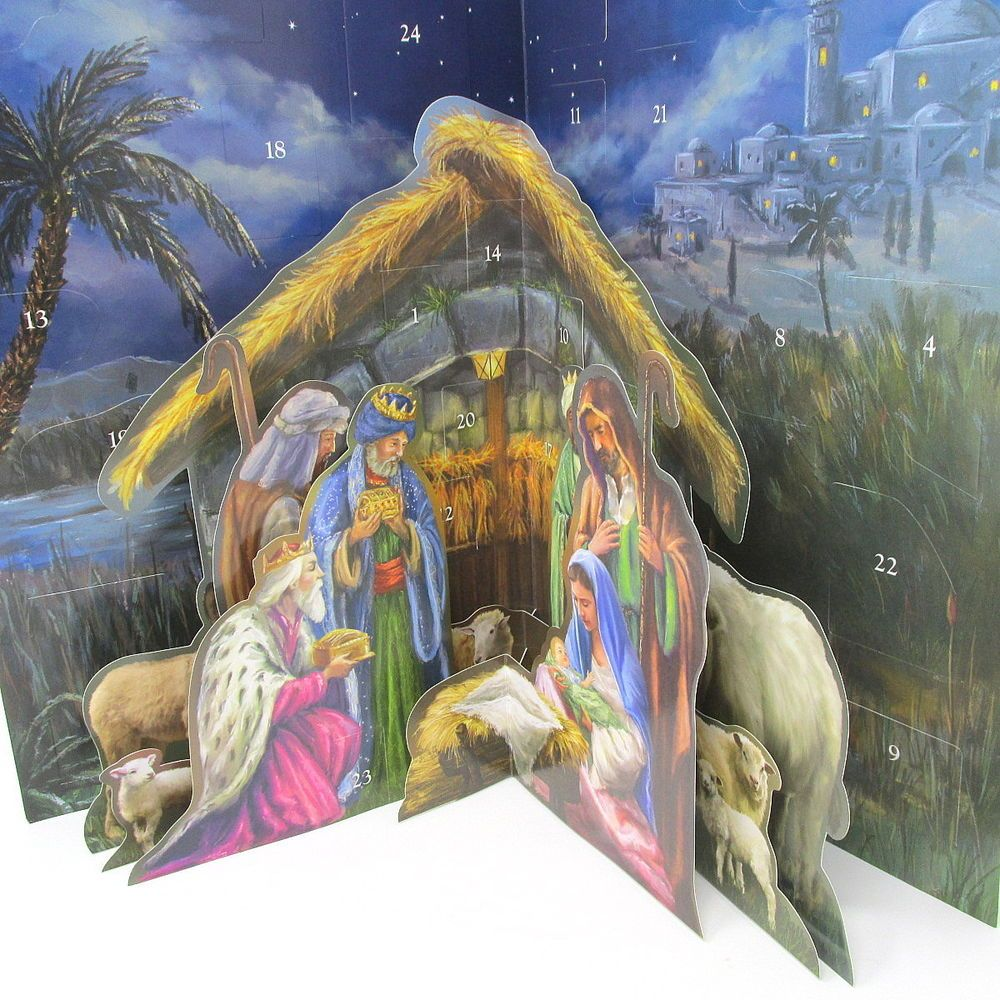 Nativity Advent Calendar 3 Dimensional New Christmas Pop