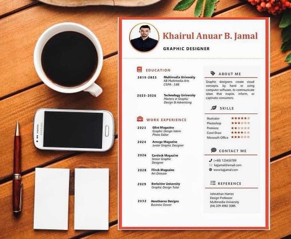 Kami menyediakan template resume yg mudah edit dan kemas