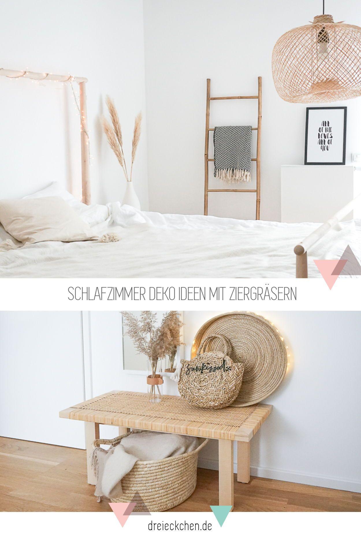 Schlafzimmer einrichten Natürliche Deko Ideen mit