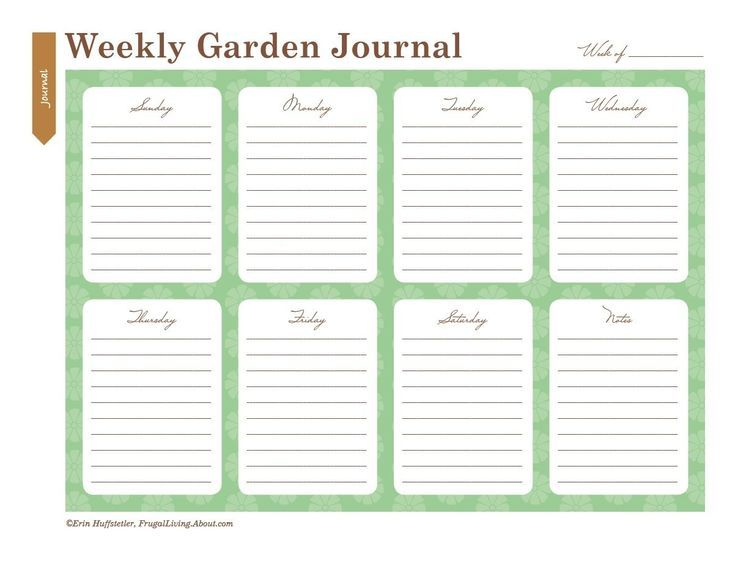 picture regarding Printable Garden Journal known as Hire All those Printable Backyard garden Laptop computer Sheets in the direction of Arrange Your