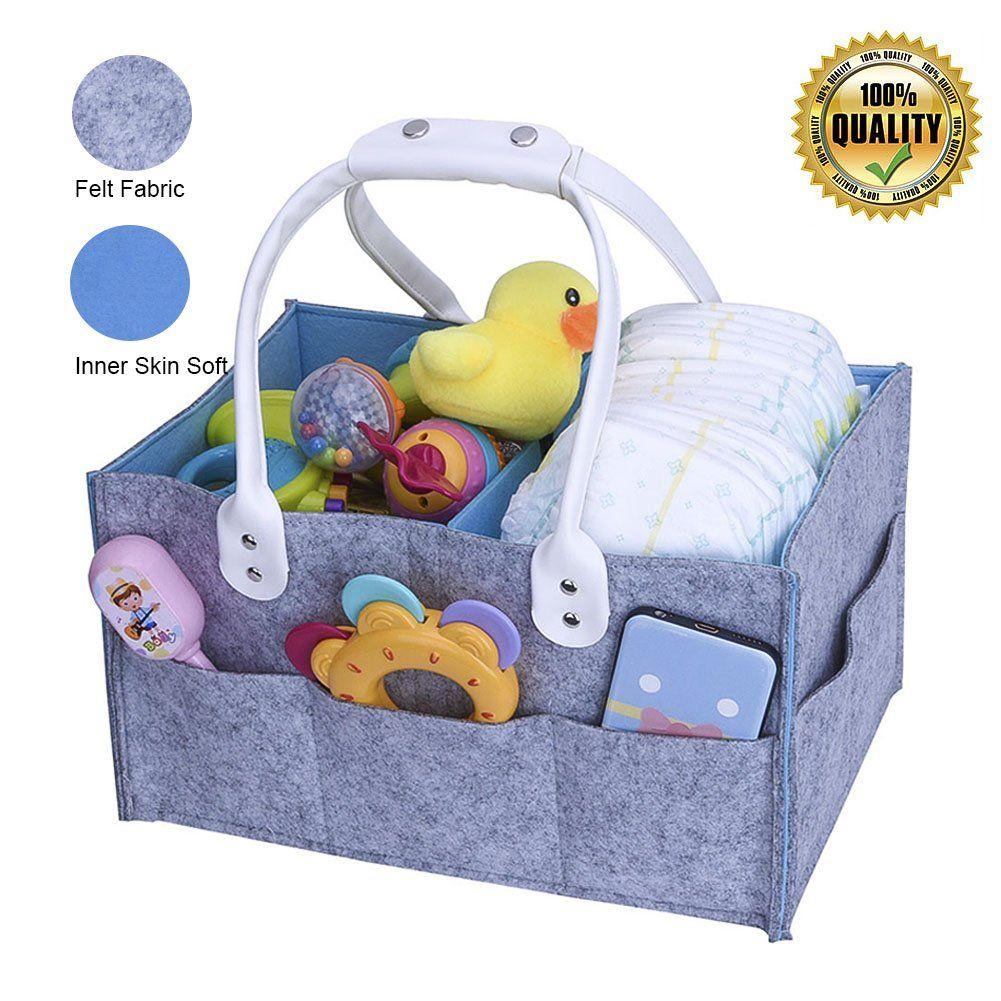 Baby Diaper Caddy Organizer - Baby Nursery Diaper Tot,Portable Car ...
