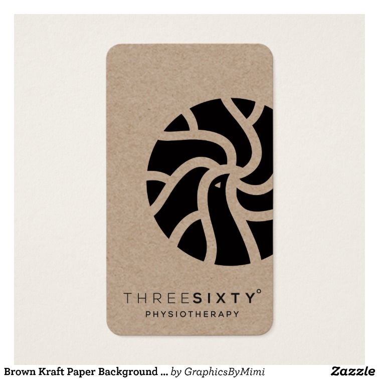 Brown kraft paper background printed business card zazzle brown kraft paper background printed business card reheart Gallery