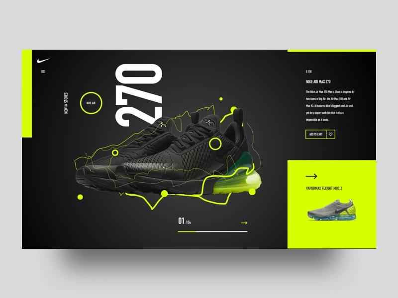 Nike Air Max 270 concept by @corneldevroed | Web design