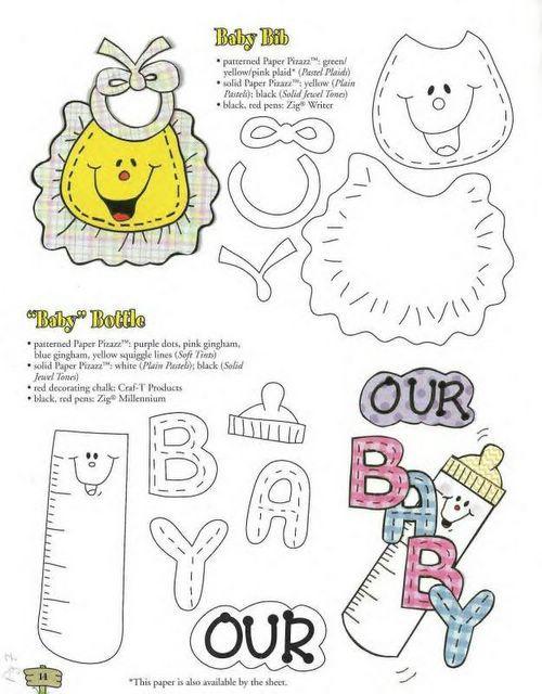 Moldes de ropita para baby shower con foami | bebes | Pinterest ...