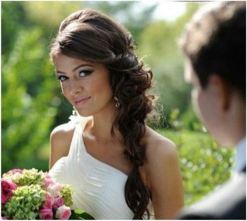 Hairstyles, Wedding Hairstyle Side Pretty: Gracefulness of Wedding Hairstyle Side #weddinghairstylesside