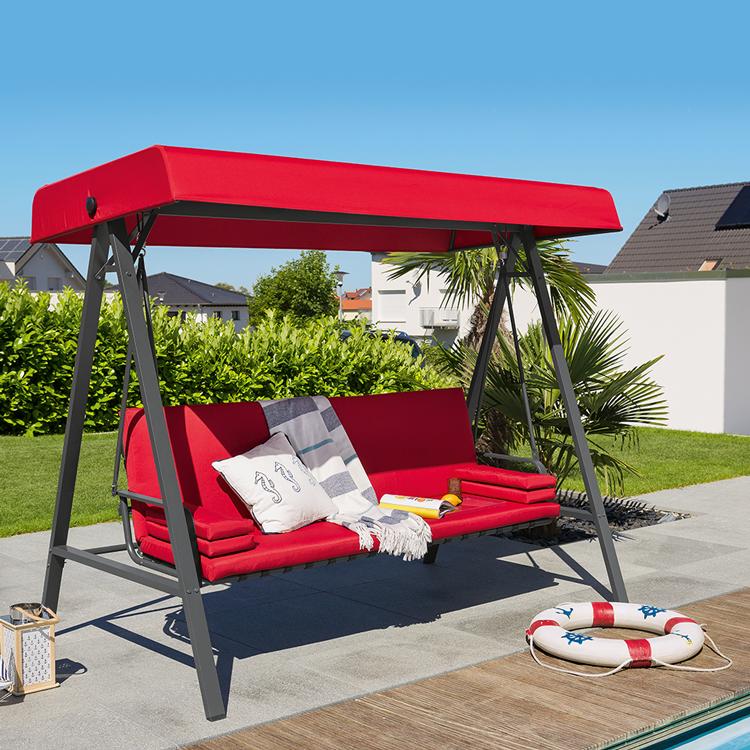 genie t den sommer in unserer hollywoodschaukel mit liegefunktion sommer hollywoodschaukel. Black Bedroom Furniture Sets. Home Design Ideas