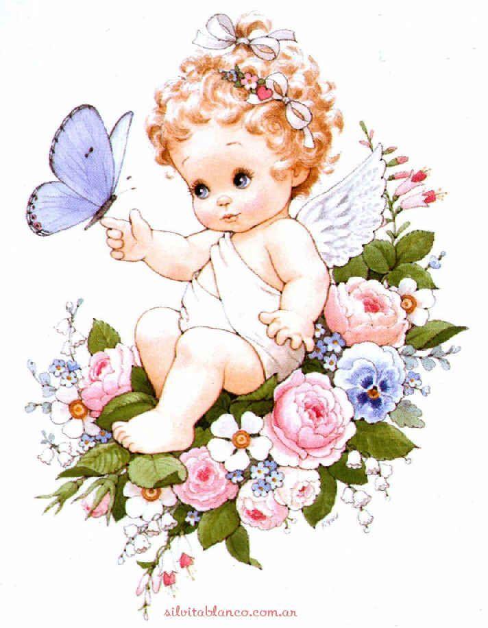 Рисунок ангелок младенец