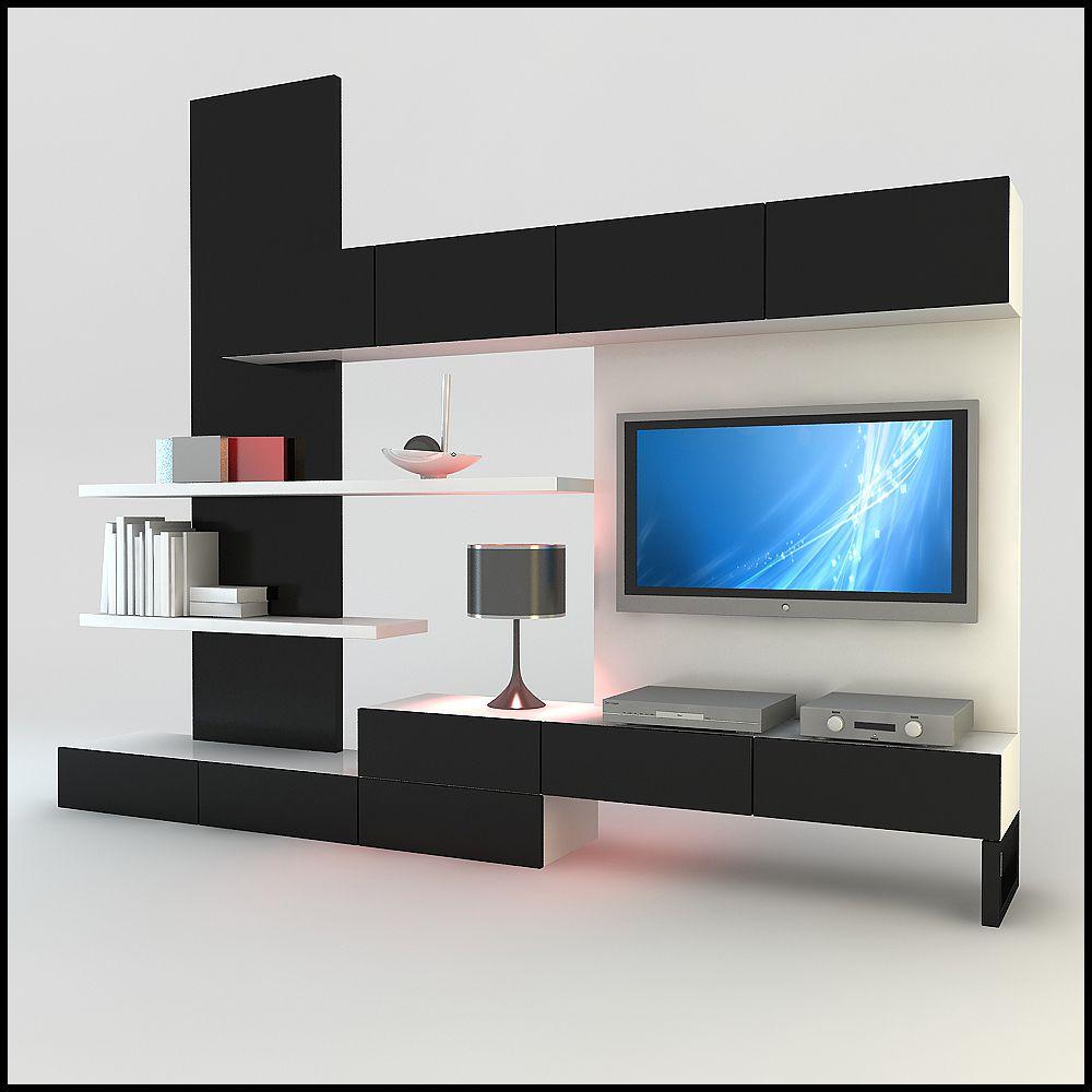 Model Modern Design Tv Wall Unit With Bookshelf Furniture Ideas Interior 1000x1000 Pixels
