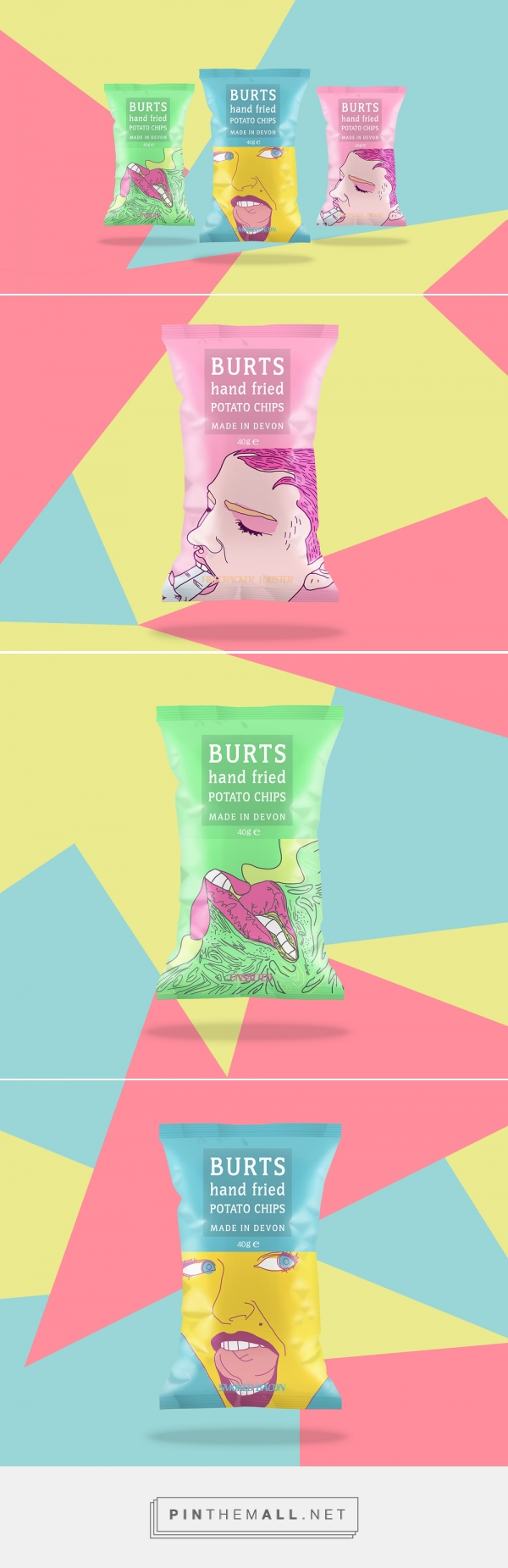 Millennial packaging for Burts Potato Chips by YAMAN HU curated by Packaging Diva PD.