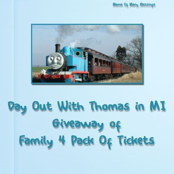 Day Out With Thomas ~ Michigan & Family 4 Pack Giveaway - giveaway open through 8/10