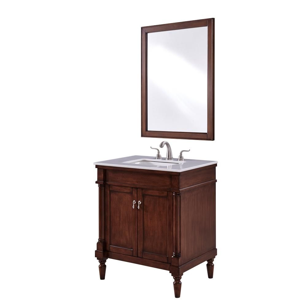 Wagner 30 In Single Bath Vanity W 1 Shelf 2 Doors Marble Top
