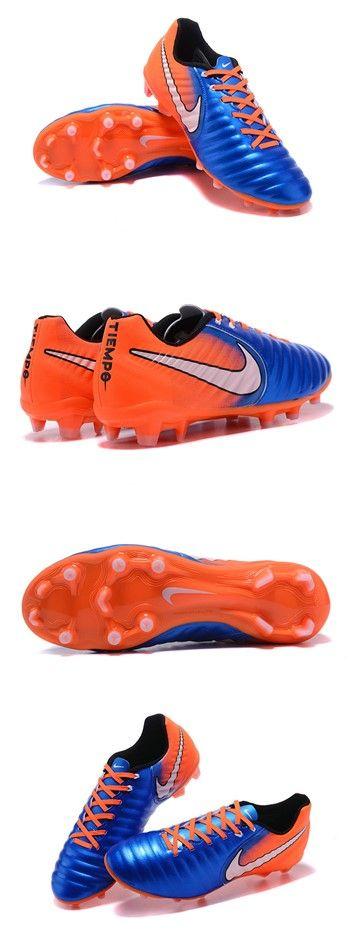 Nike Tiempo Legend VII FG Crampon de Football 2017 Bleu Orange