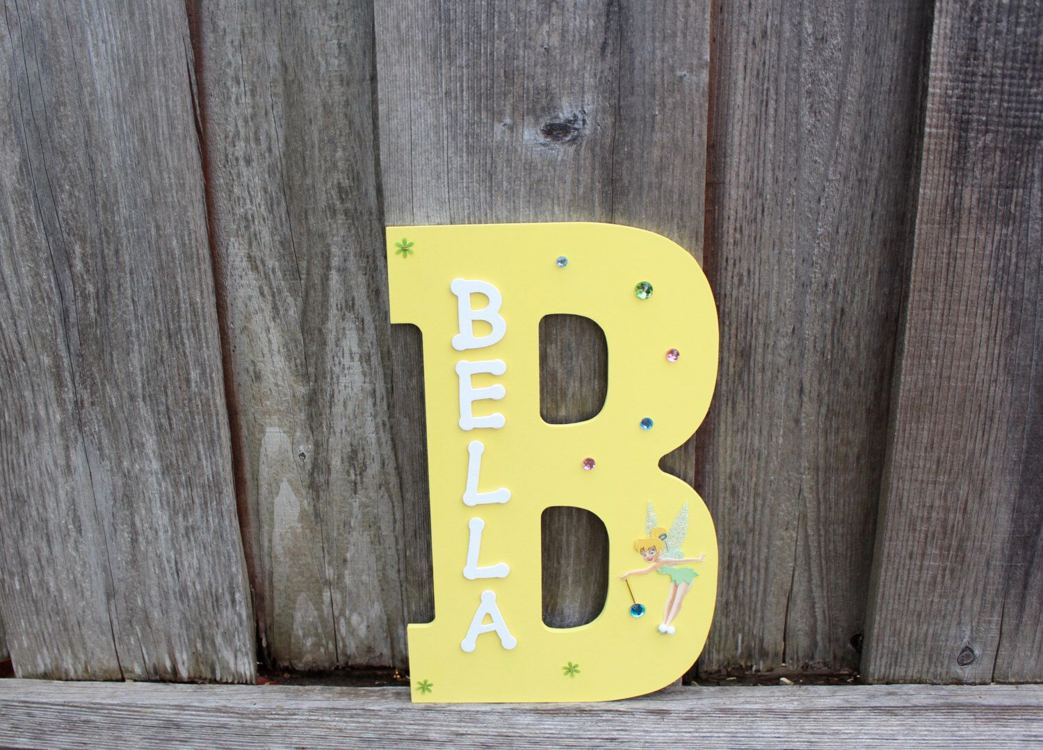 Tinkerbell Wooden Child\'s name sign, kids name sign, name sign ...
