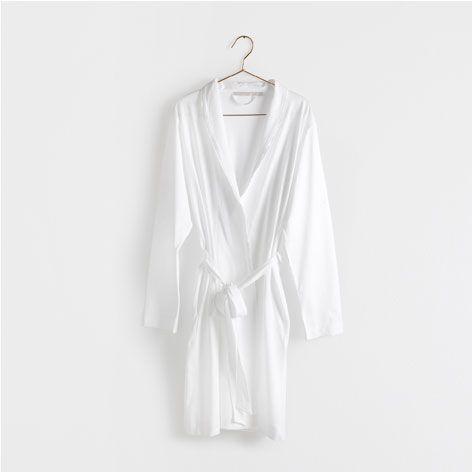 Robe de chambre blanche femme