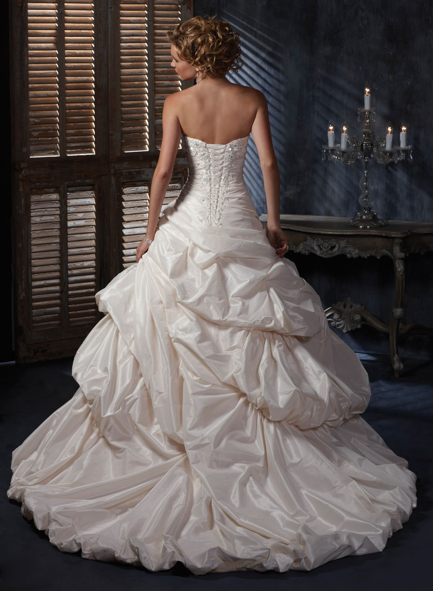 Back of Annalise by Maggie Sottero (shown in light gold)