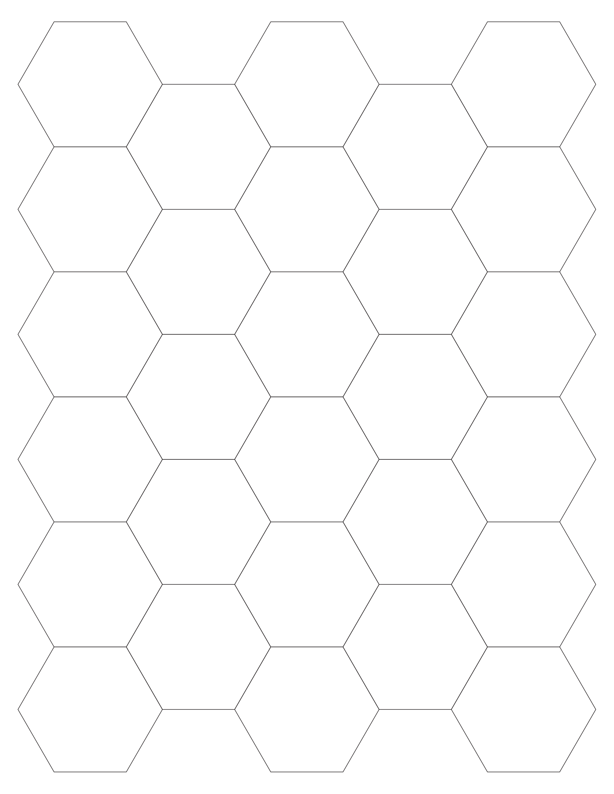 "Printer template for 28 1"" hexagons These are a bear to cut out but"