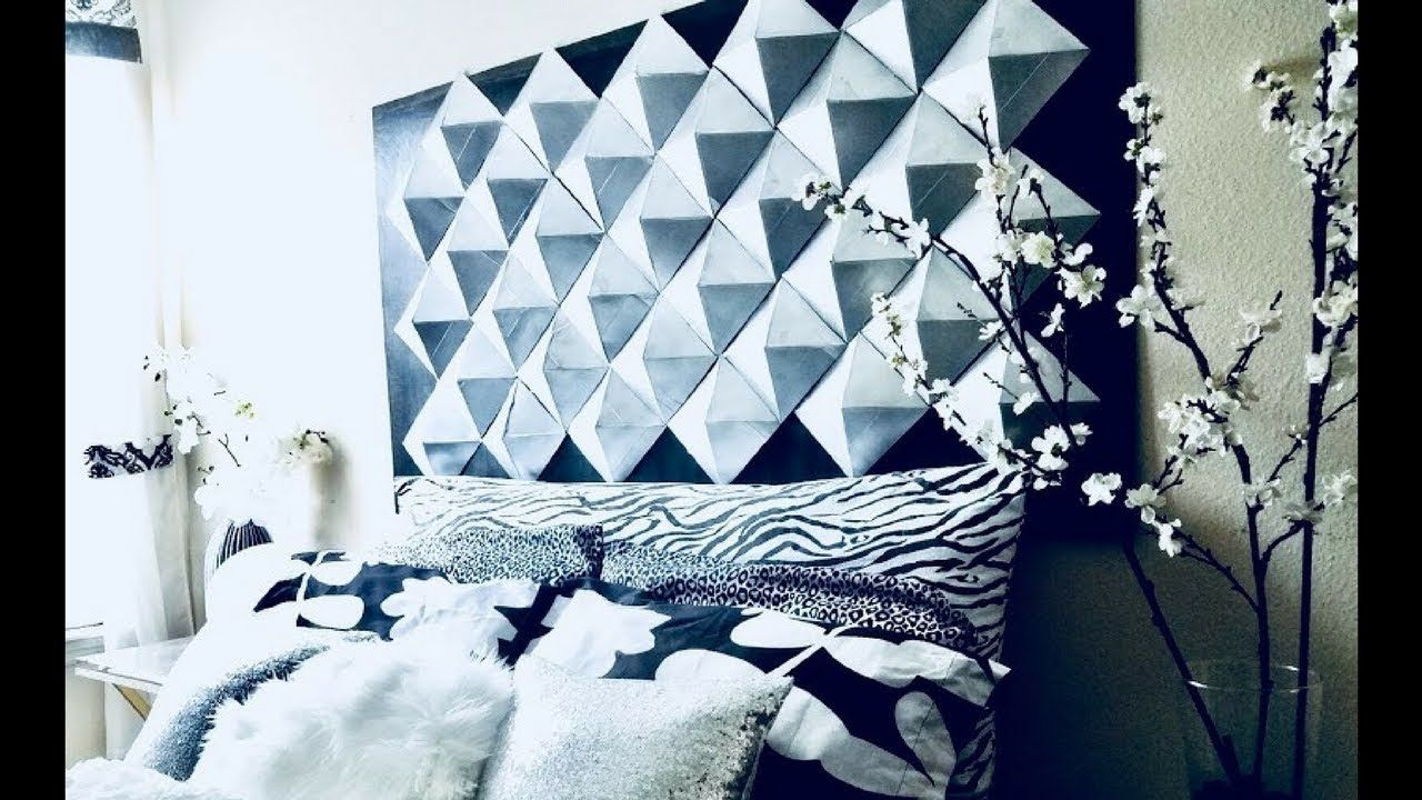 Easy Diy 3d Wall Decor Headboard For Homes Using Recycled Cereal