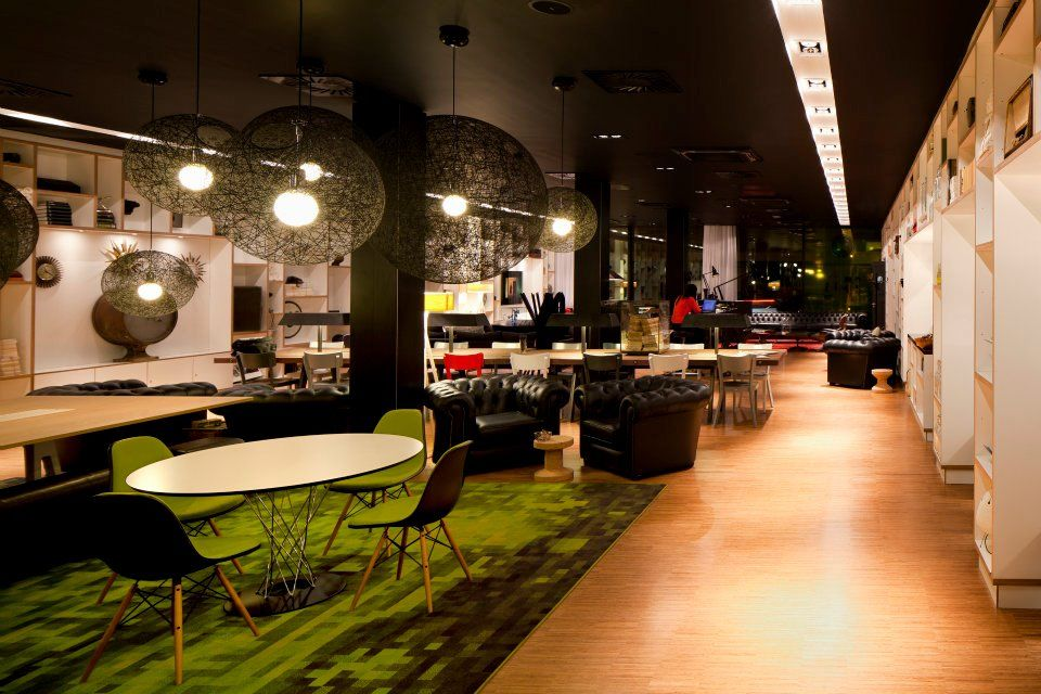 Societym coworking space on the ground floor of citizenm Coworking space design ideas