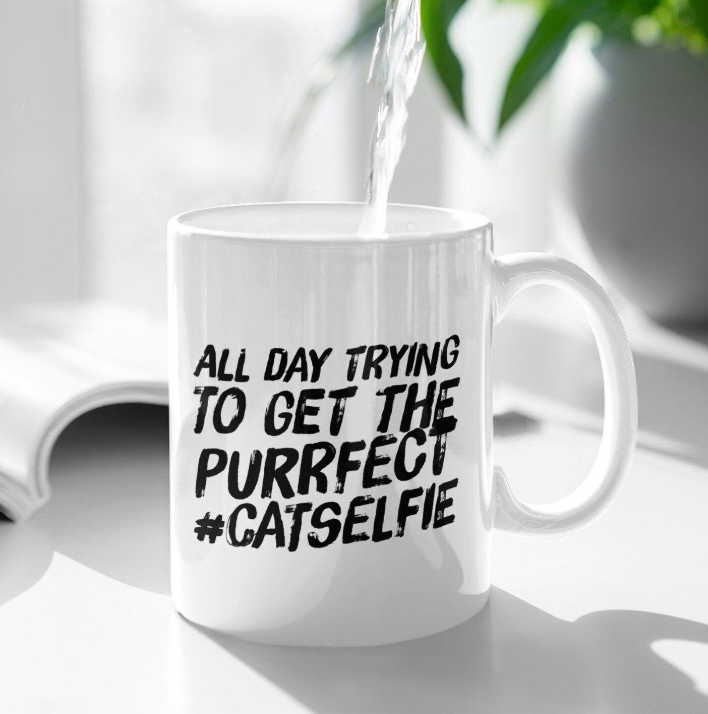 Cat Mug Funny Selfie