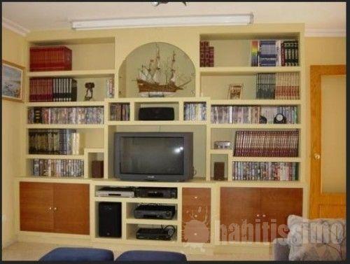 Mueble salon en pladur muebles de pladur pinterest - Muebles en pladur ...