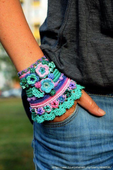 Crochet Cuff Bracelet Pattern 21