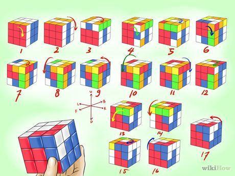 membuat pola kubus rubik yang keren rubik s cube pinterest