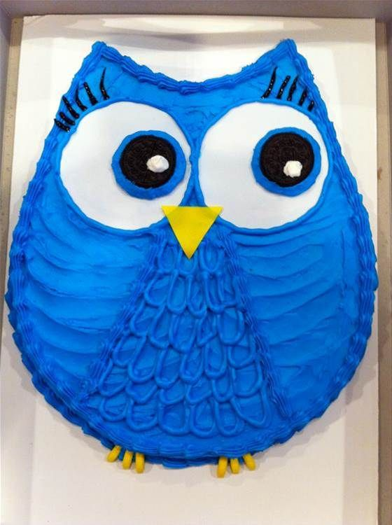 homemade owl cake Bing Images Baby Shower Pinterest Owl