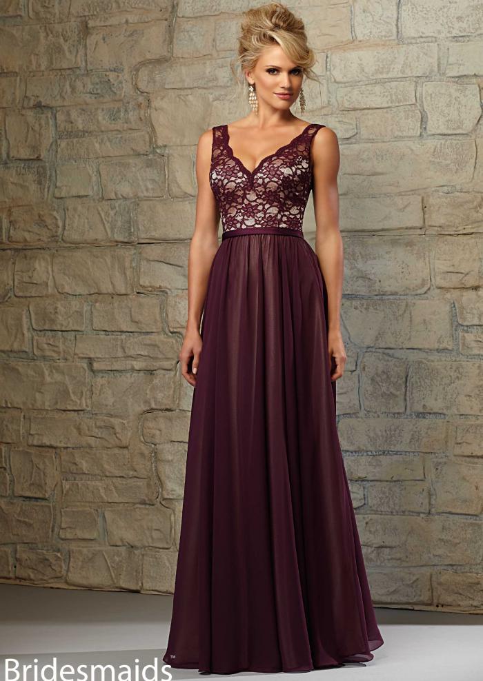 bd889c0322e67 Cheap and Australia A-line Straps Lace Chiffon Floor Length 2015 Spring Bridesmaid  Dresses 714 from En.dresses4Australia.com.au