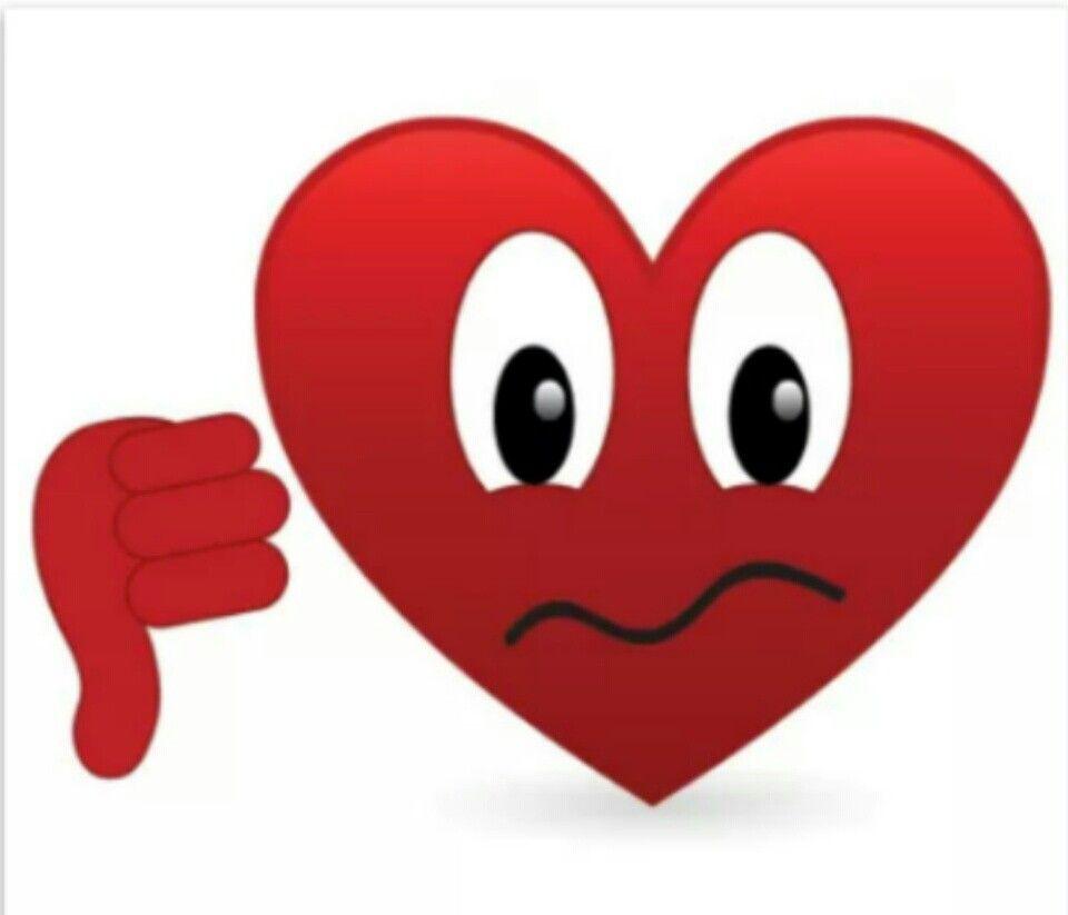 Thumbs Down Heart Emoji Movie Emoji Heart Emoticon